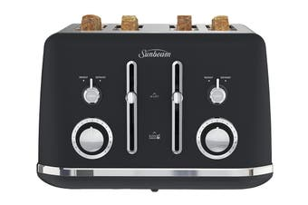 Sunbeam Alinea 4 slice Toaster - Dark Canyon Black (TA2740K)