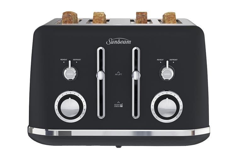 Sunbeam Alinea 4 slice Toaster - Dark Canyon Black (TA2740K)