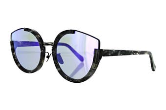 Sunday Somewhere NAY Sunglasses (Black Glitter, Size 60-24-145) - Purple