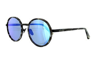 Sunday Somewhere NED Sunglasses (Black Glitter, Size 50-20 145) - Purple/Blue