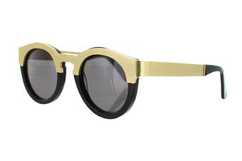 Sunday Somewhere SOELAE Sunglasses (Yellow Gold/Black, Size 46-25-145) - Black