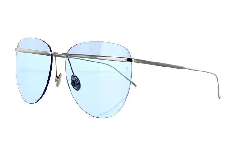 Sunday Somewhere TALLULAH Sunglasses (Silver, Size 58-16-145) - Sky Blue