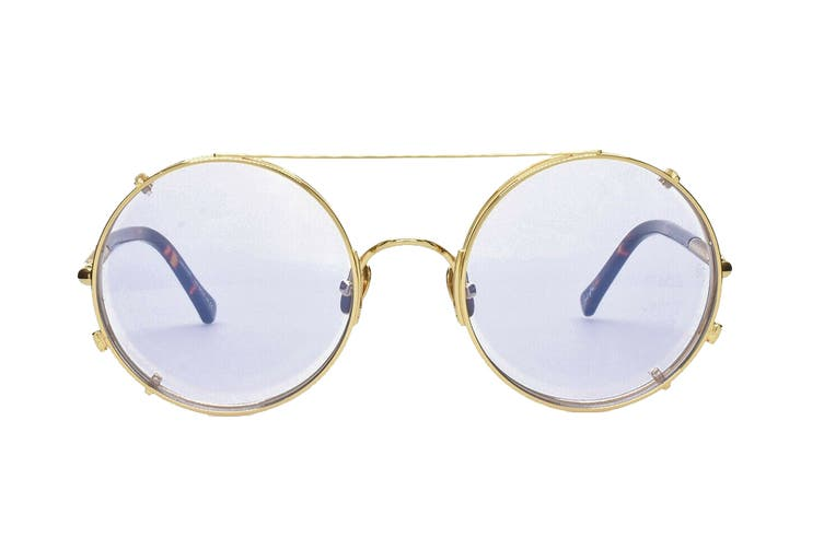 Sunday Somewhere VALENTINE Sunglasses (Gold, Size 53-23-145) - Transparent Purple