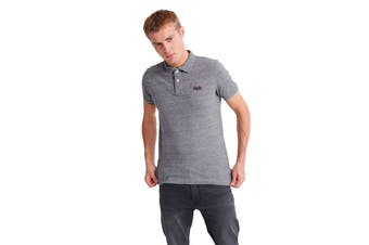 Superdry Men's Classic Pique Polo (Flint Steel Grit)