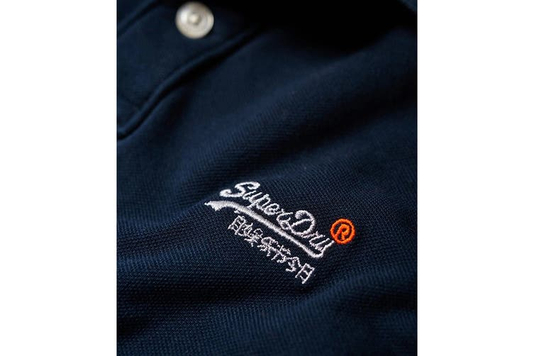 Superdry Men's Classic Pique Polo (New Eclipse Navy, Size S)