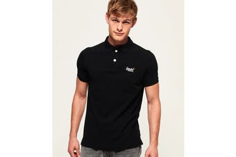 Superdry Men's Classic Pique Polo (New Black)