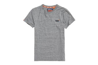 Superdry Men's Orange Label Vintage Embroidery Tee (Flint Steel Grit)