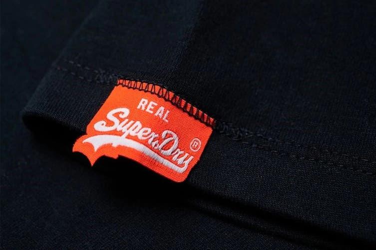 Superdry Men's Orange Label Vintage Embroidery Tee (New Eclipse Navy, Size XL)