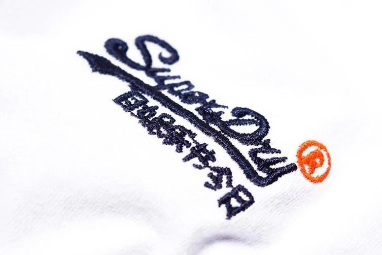 Superdry Men's Orange Label Vintage Embroidery Tee (New Optic, Size XS)