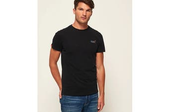 Superdry Men's Orange Label Vintage Embroidery Tee (New Black)