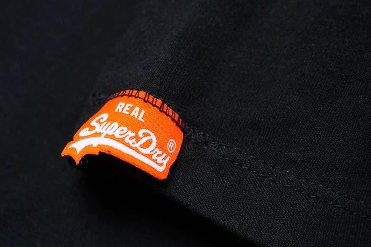 Superdry Men's Orange Label Vintage Embroidery Tee (New Black, Size XS)