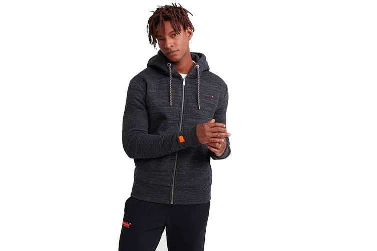 Superdry Men's OL Cali Zip Hood (Vast Black Space Dye, Size S)