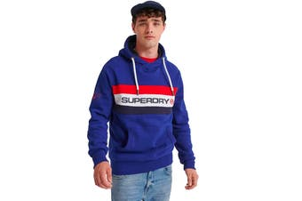 Superdry Men's Trophy Classic Hood (Downhill Blue)