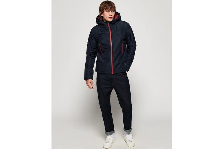Superdry Men's Padded Elite Jacket (Navy, Size S)
