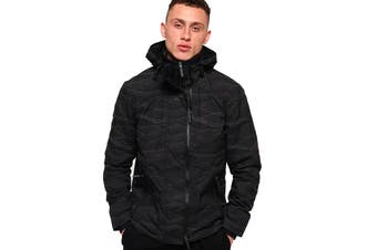 Superdry Men's Hooded Arctic Windcheater (Black/Black Reflective)