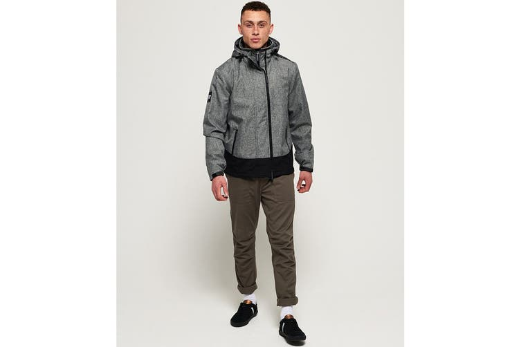 Superdry Men's Hooded Arctic Windcheater (Mid Grey Marl, Size S)