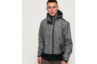 Superdry Men's Hooded Arctic Windcheater (Mid Grey Marl, Size XXL)