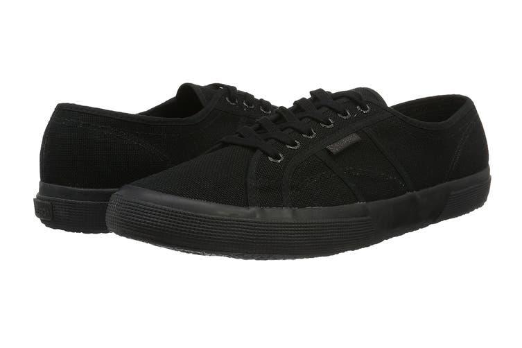 Superga Unisex 2750-Cotu Classic Shoe (Total Black, Size 43 EU)