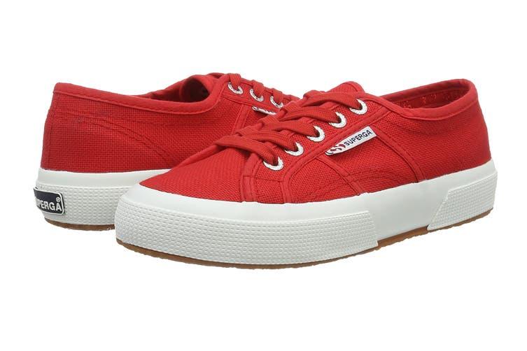 Superga Women's 2750-Cotu Classic Shoe (Red/White, Size 40 EU)
