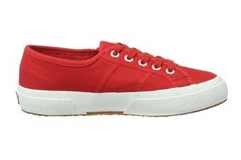 Superga Women's 2750-Cotu Classic Shoe (Red/White, Size 44 EU)