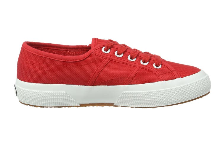 Superga Women's 2750-Cotu Classic Shoe (Red/White, Size 46 EU)