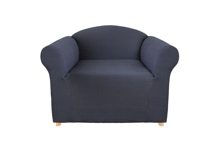 SureFit Diamond Stitch Sofa Cover (Navy)