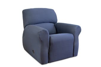 SureFit Diamond Stitch Recliner Cover (Navy)