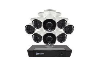 Swann 16 Channel 4K Ultra HD NVR Security System with 8 x 4K Heat & Motion Detection Security Cameras (SONVK-1686808-AU)