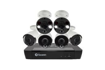 Swann 8 Channel 4K Ultra HD NVR Security System with 6 x 4K Heat & Motion Detection Security Cameras (SONVK-886804B2FB-AU)\