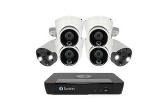 Swann 8 Channel 4K Ultra HD NVR Security System with 6 x 4K Heat & Motion Detection Security Cameras (SONVK-886804D2FB-AU)