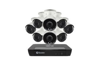 Swann 8 Channel 4K Ultra HD NVR Security System with 8 x 4K Heat & Motion Detection Security Cameras (SONVK-886808-AU)