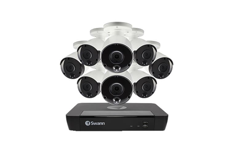 Swann 8 Channel 4K Ultra HD NVR Security System with 8 x 4K Heat & Motion Detection Security Cameras (SONVK-886808D-AU)