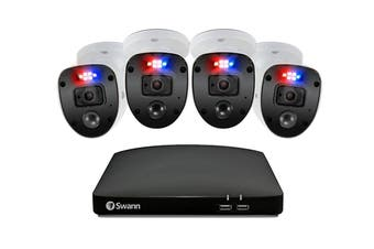 Swann Enforcer 4 Channel 1080p Full HD DVR with 4 x 1080p Full HD DVR  Security System