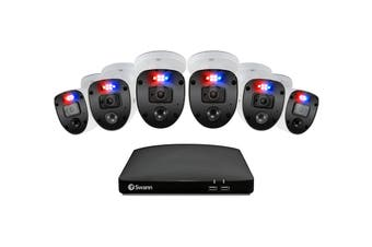Swann 8 Channel 1080p Full HD DVR with 6 x 1080p Enforcer Cameras with Lights & Spotlights (SWDVK-846806SL-AU)