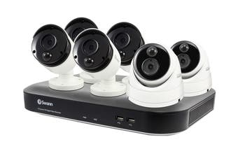 Swann 8 Channel 5MP Super HD 2TB DVR with 6 x Heat & Motion Sensing + Night Vision Cameras (SWDVK-849804B2D-AU)