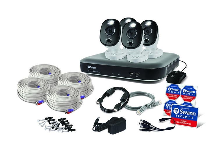 Swann 8 Channel 4K Ultra HD DVR with 4 x Camera Security System (SWDVK-855804WL-AU)