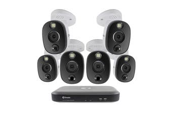 Swann 8 Channel 4K Ultra HD DVR Security System with 2TB HDD, 6 x 4K Heat & Motion Sensing Warning Light Security Cameras (SWDVK-855806WL)