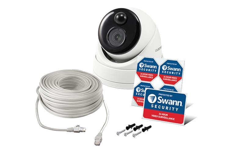 Swann 4K Ultra HD True Detect Thermal Sensing Dome Camera with IR Night Vision (SWNHD-886MSD-AU)