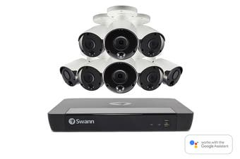 Swann 16 Channel 5MP Super HD 2TB 4K Capable NVR with 8 x NHD-865MSB 5MP True Detect Bullet Cameras (SWNVK-1675808)