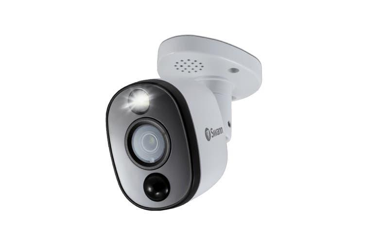 Swann 4K Ultra HD Heat & Motion Detection Sensor Warning Light Bullet Security Camera (PRO-4KWLB)