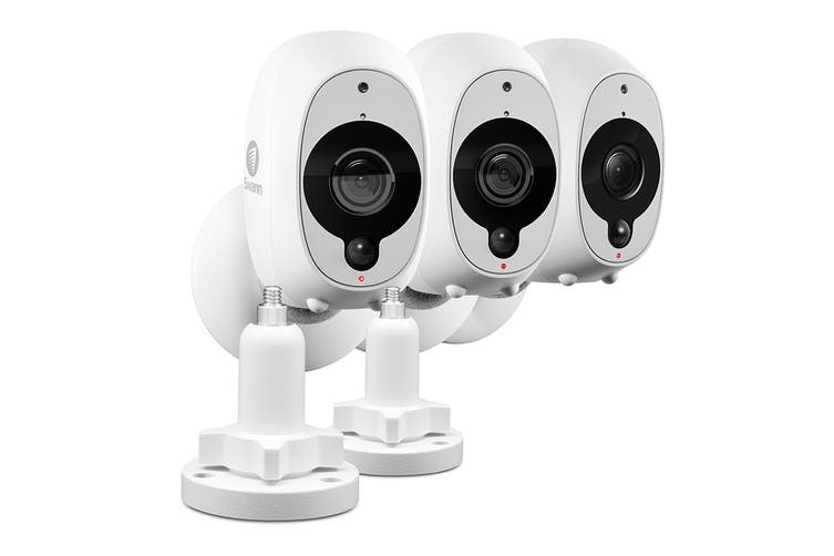 Swann Smart Security 1080P Battery Camera 3 pack + 2 Outdoor Stand (SWWHD-INTCM2STPK3-AU)