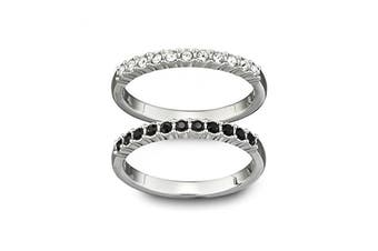 Swarovski Crystal Mixed Rings - Set of 2 (Size 7)