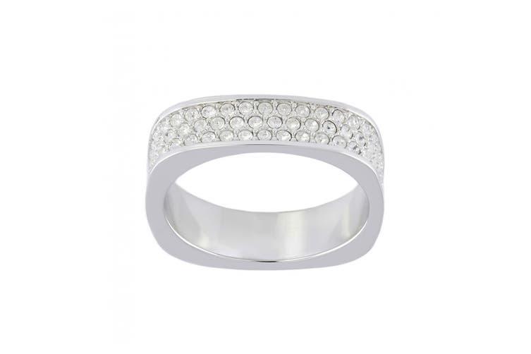 Swarovski Vio Rhodium, Clear Crystal Ring (Size 7)
