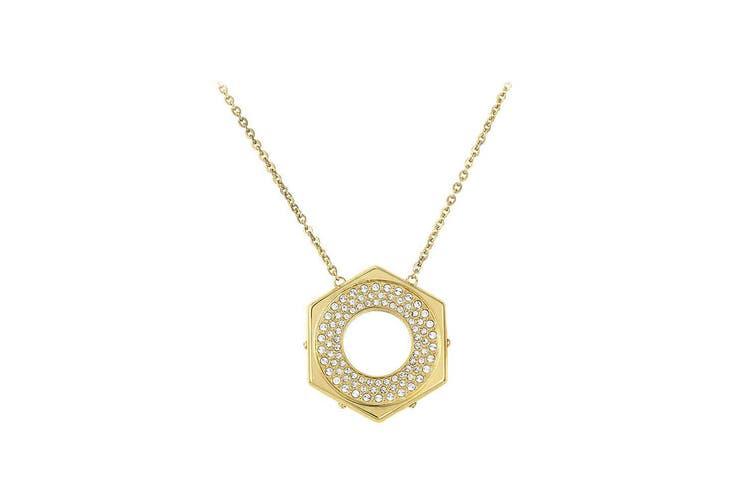 Swarovski Bolt Gold-Tone, Crystal Pave Pendant Chain Necklace