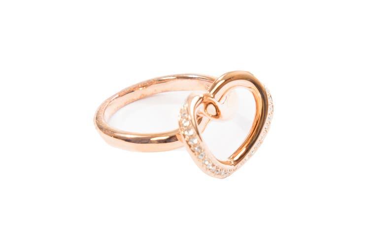 Swarovski Cupidon Rose Gold Crystal Ring (Size 7)