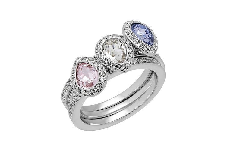 Swarovski Christie Crystal Stacking Rings - Set of 3 (Size 7)