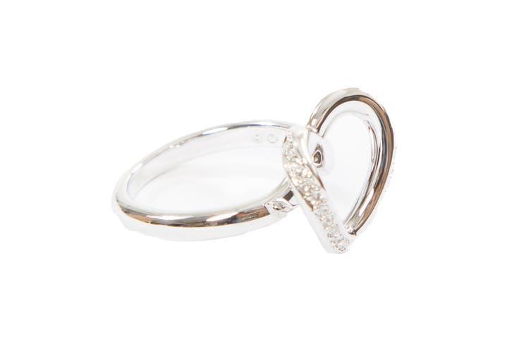 Swarovski Cupidon Rhodium Ring (Size 7)