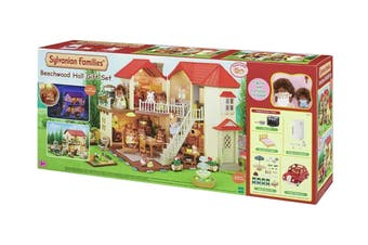 Sylvanian Families Beechwood Hall Gift Set with Saloon Car