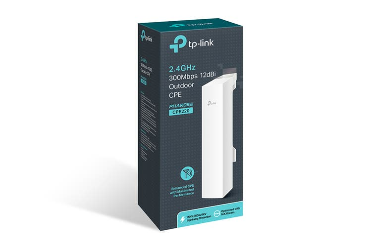 TP-Link 2.4GHz 300Mbps Wireless Outdoor CPE (CPE220)