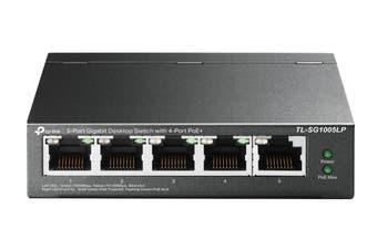 TP-Link 5-Port Gigabit Desktop Switch with 4-Port PoE+ (TL-SG1005LP)